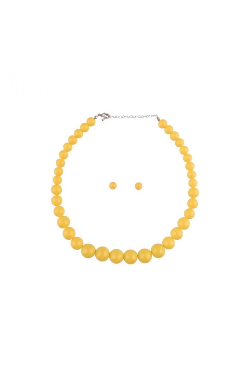 Collier vintage jaune