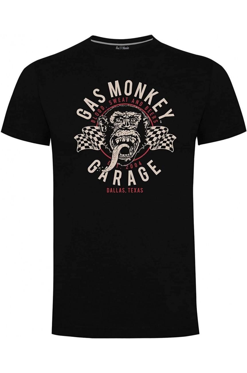 Gas monkey garage tee shirt homme drapeau