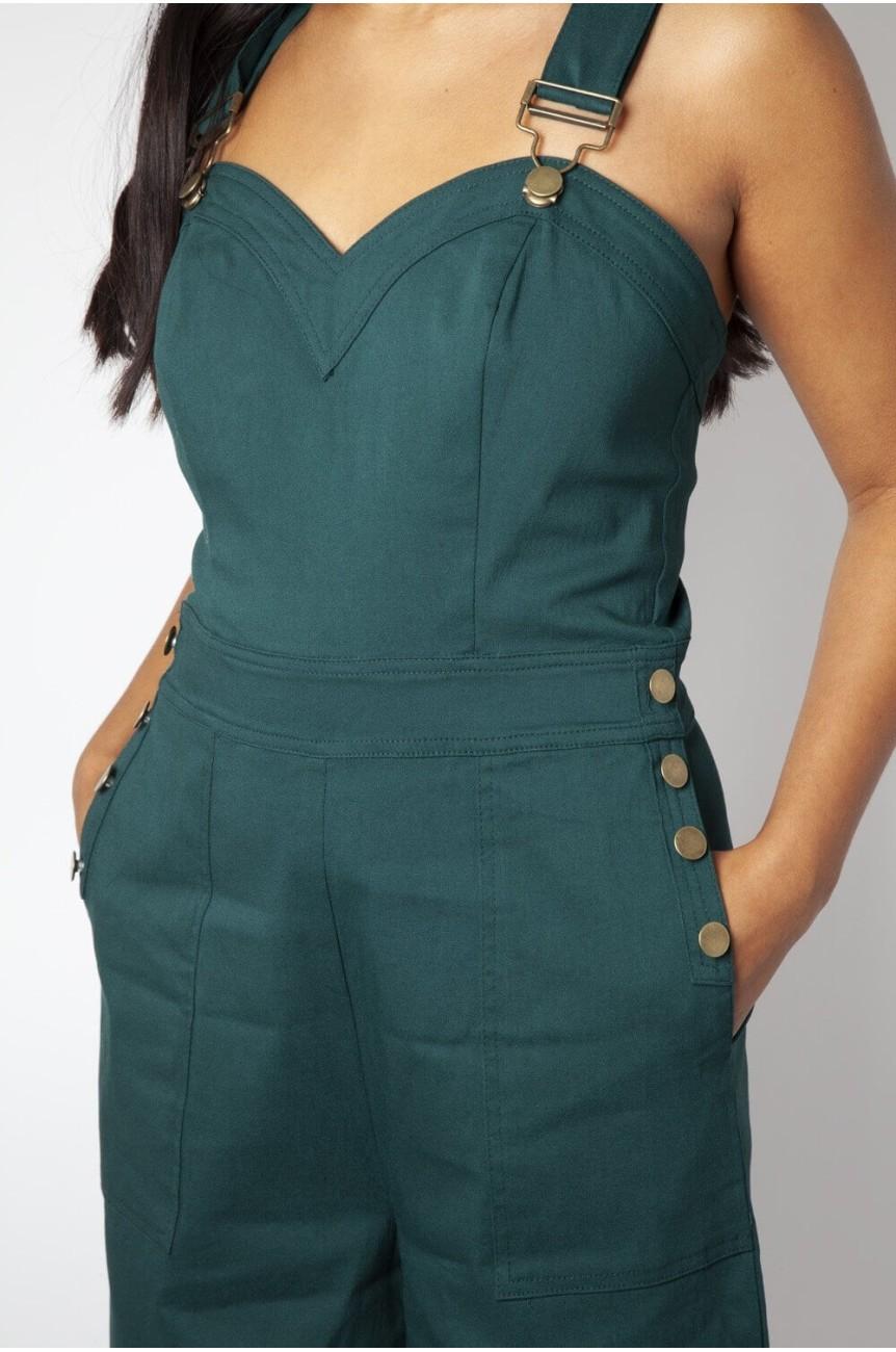 Salopette femme verte