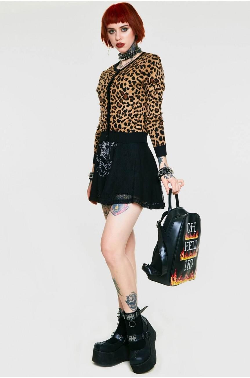 Cardigan léopard Jawbreaker
