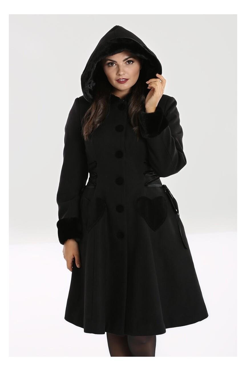 Manteau noir retro