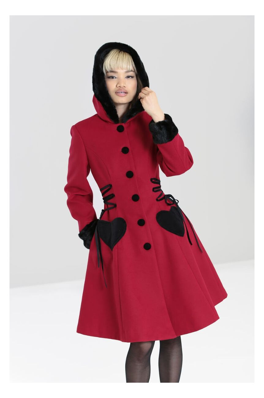 Manteau rouge hell bunny