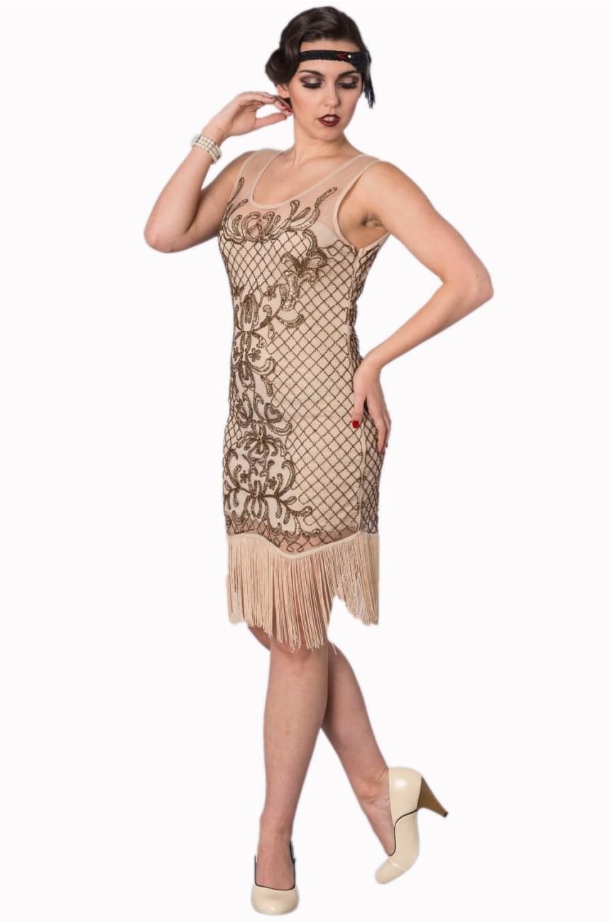 Robe années 20 écrue Gatsby