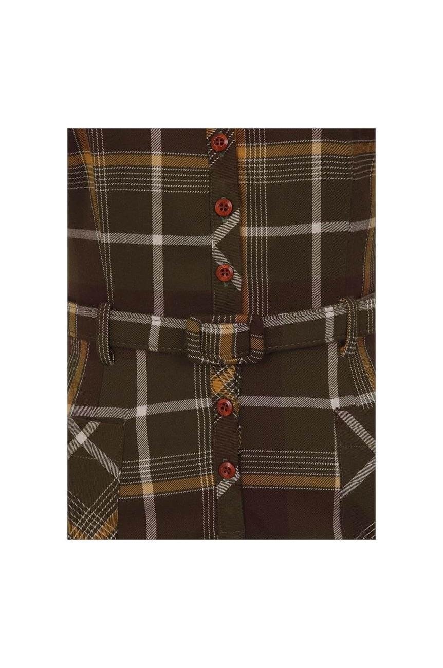 Robe crayon tartan marron Collectif clothing