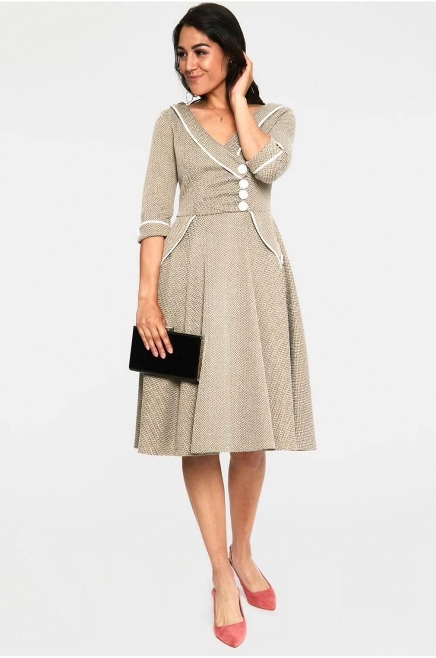 Robe années 50 olive Vixen