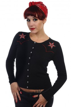 Cardigan pin up etoile rock