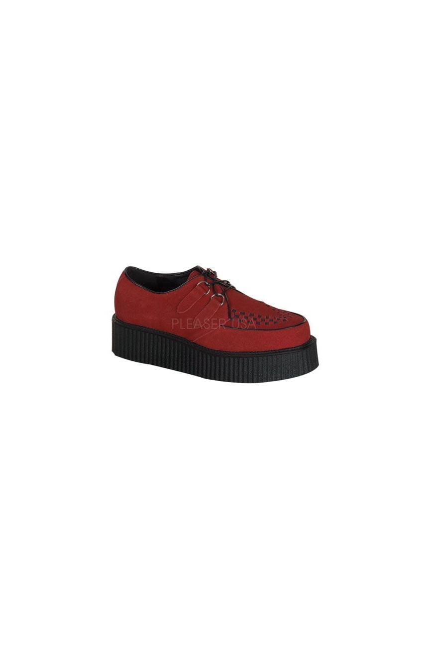 Creeper 402 demonia rouge suede