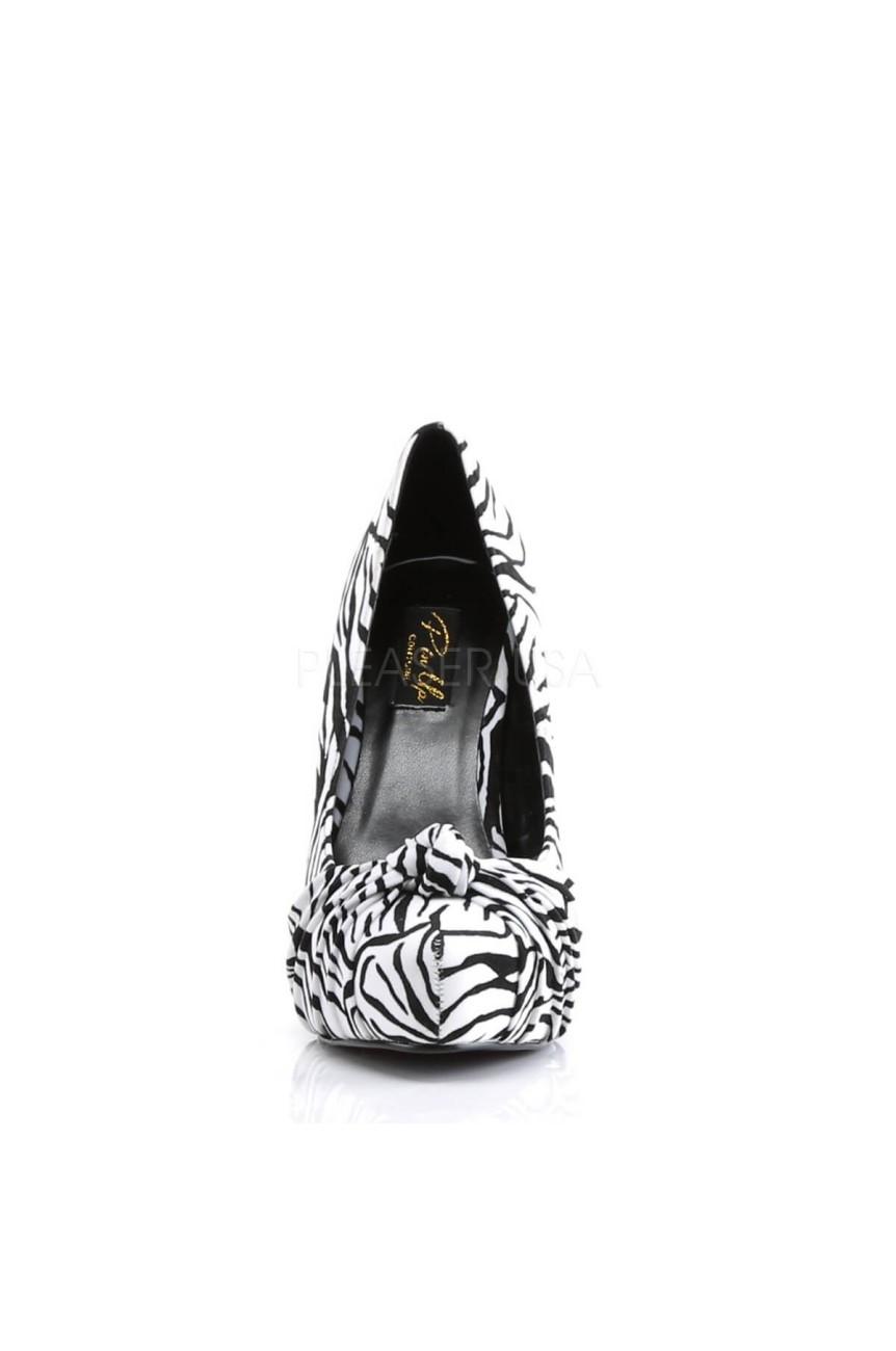 Chaussure pin up zebre safari-06