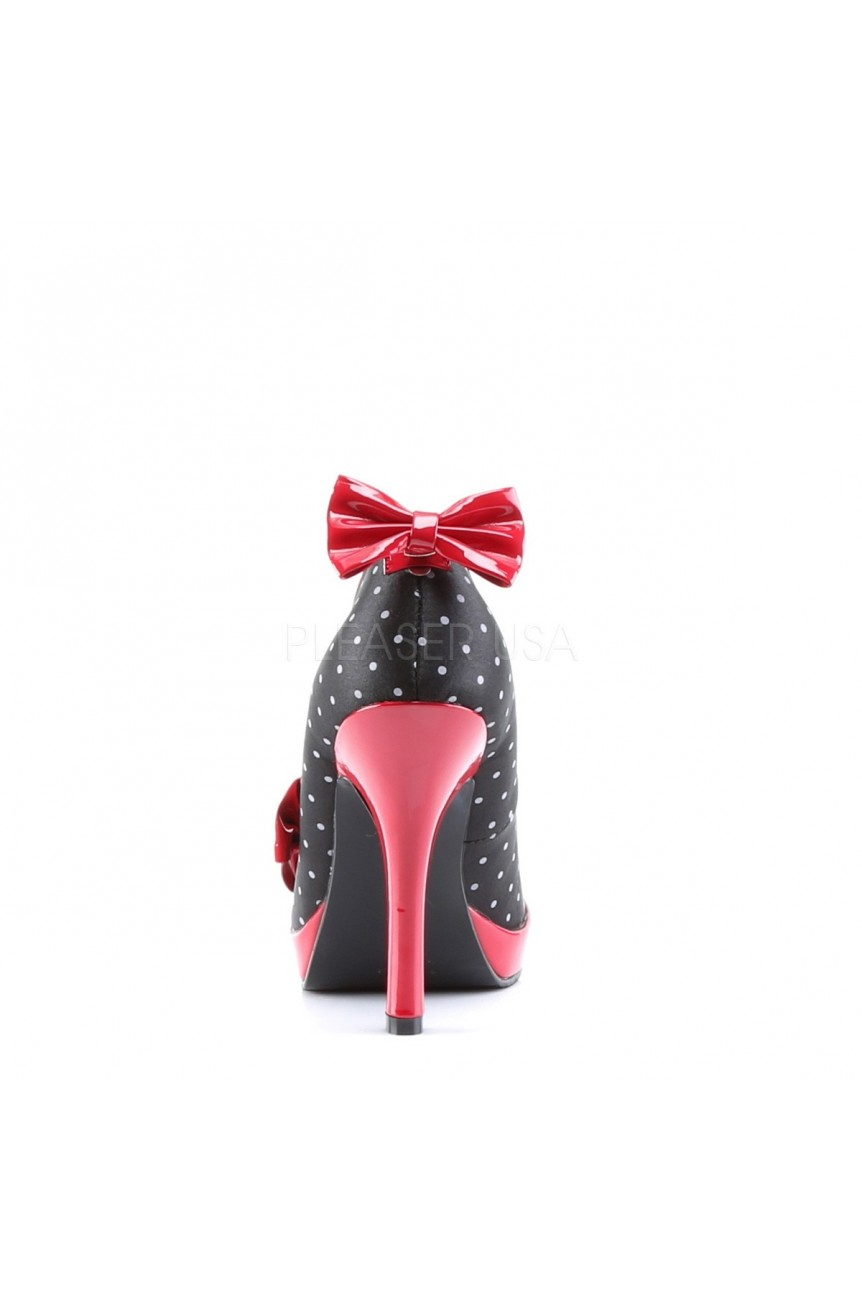 chaussure pin up a pois