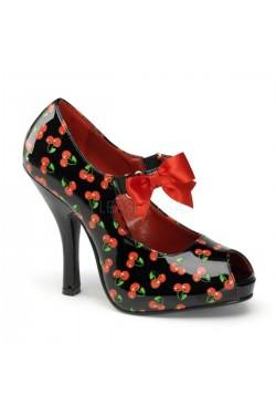Chaussure cerises pin up cutiepie-07
