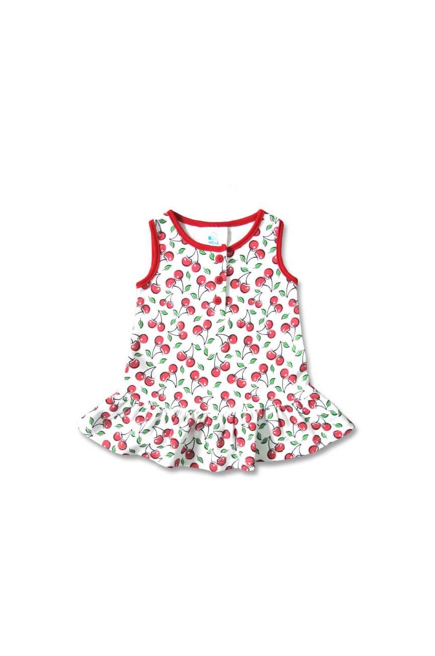 Robe cerise blanche pour bébé