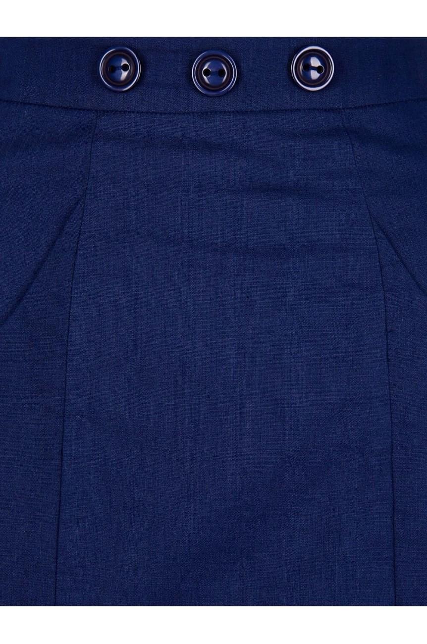 Jupe crayon bleueu