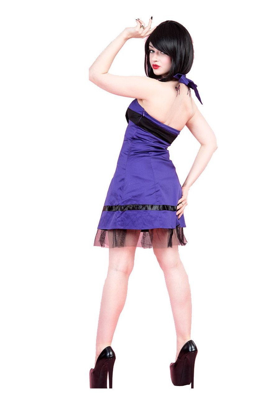 Robe courte rock violette h&r london