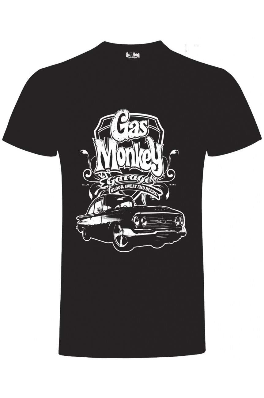 Tee shirt gas monkey VINTAGE CAR