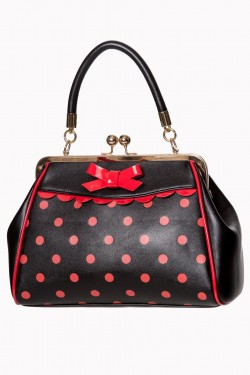 Sac vintage rock a pois rouges