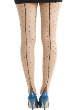 Collants vintage à pois
