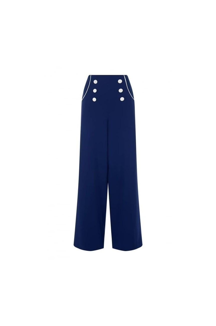 Pantalon collectif taille haute