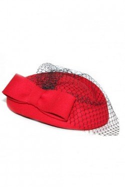 Chapeau pin up vintage rouge