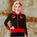 Cardigan pin up rockabilly